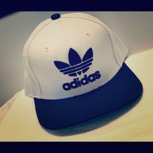 White Adidas Snapback hat